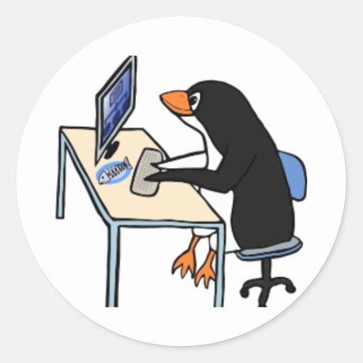penguin tux system administrator sticker