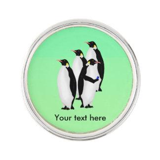 Penguin Using A Cellphone Lapel Pin