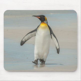 Penguin walking on the beach mouse pad