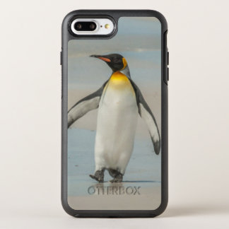 Penguin walking on the beach OtterBox symmetry iPhone 7 plus case
