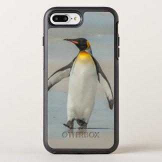 Penguin walking on the beach OtterBox symmetry iPhone 8 plus/7 plus case