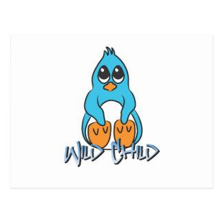 Penguin WC blue Postcard
