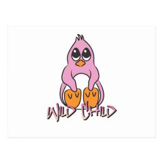 Penguin WC pink Postcard