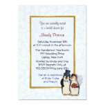 Penguin Wedding - Bridal Shower Personalized Invitations