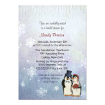 Penguin Wedding Bridal Shower 13 Cm X 18 Cm Invitation Card
