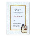 Penguin Wedding - RSVP Personalised Invitation