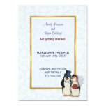 Penguin Wedding - Save the Date Invitations