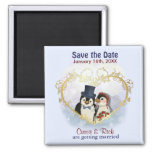 Penguin Wedding Save the Date Refrigerator Magnets