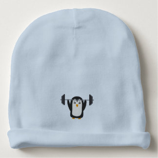 Penguin Weightlifting Baby Beanie