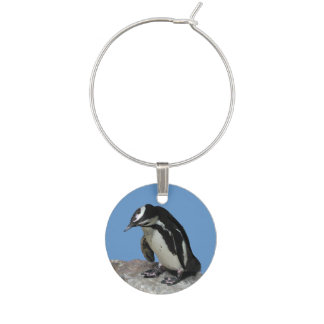 Penguin Wine Charm