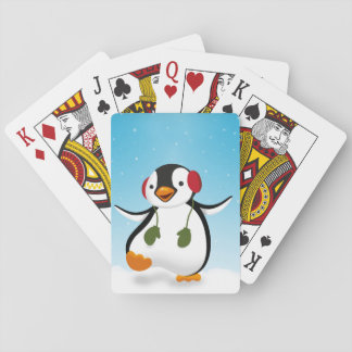 Penguin Winter Illustration - Playing Card Deck