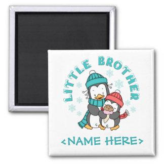 Penguin Winter Little Brother Square Magnet