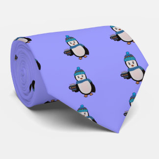 Penguin Winter Tie