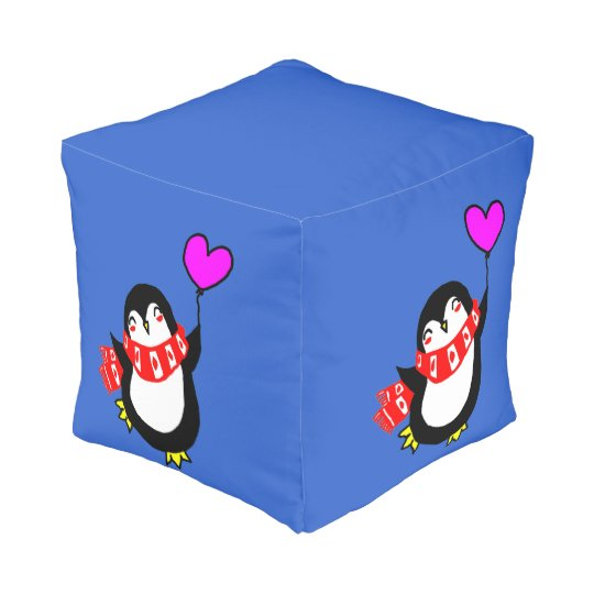 Penguin with a Post Pouf