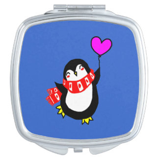 Penguin With balloon Mirror For Makeup