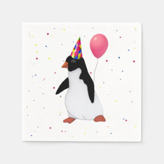 Penguin With Balloon Paper Napkin