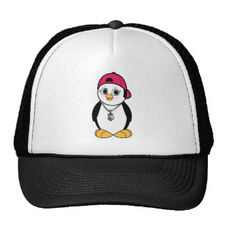 Penguin with Bling Mesh Hat