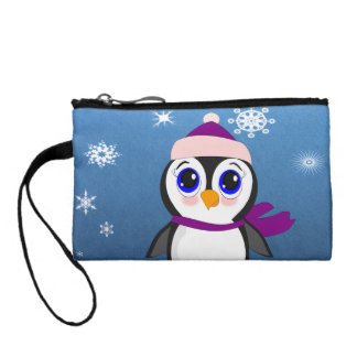 Penguin with  Hat Coin Purse