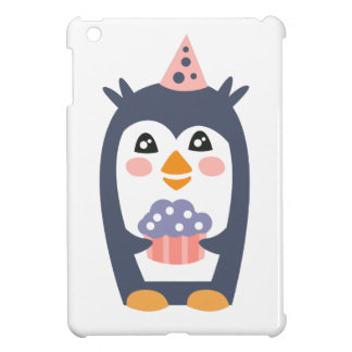 Penguin With Party Attributes Girly Stylized Funky Case For The iPad Mini