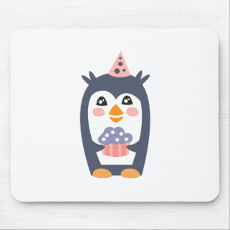 Penguin With Party Attributes Girly Stylized Funky Mouse Pad