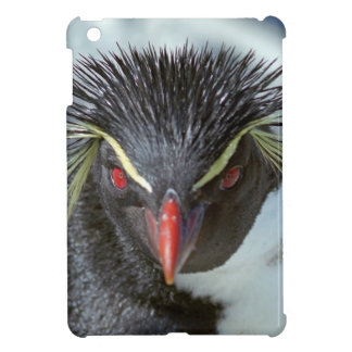 Penguin with red eyes iPad mini case