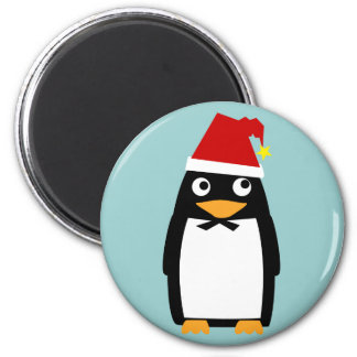 Penguin with Santa Hat Magnet