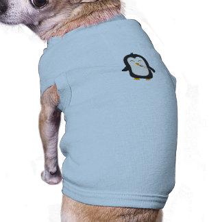 Penguin with sushi sleeveless dog shirt
