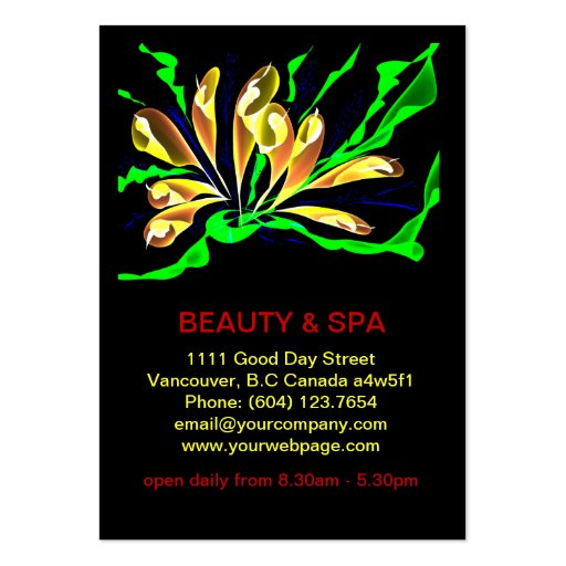 Penguinone Beauty Spa Salon Business Card