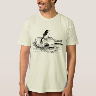 "Penguins Afloat on an ice cream ""Boat"" T-Shirt"