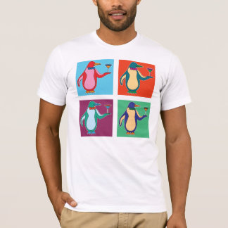 Penguins and Martinis - American Apparel T-Shirt