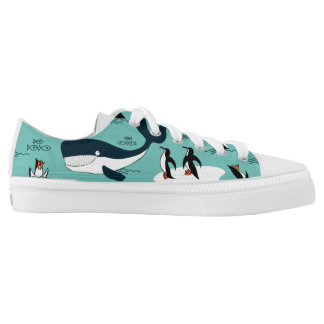 penguins and whales low tops