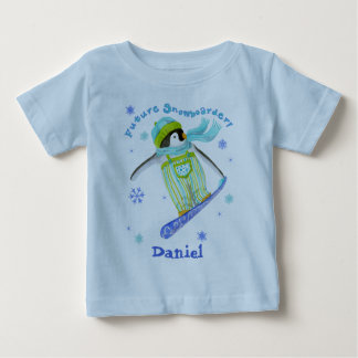 Penguins at Play, Snowboarder, Infant T-shirt