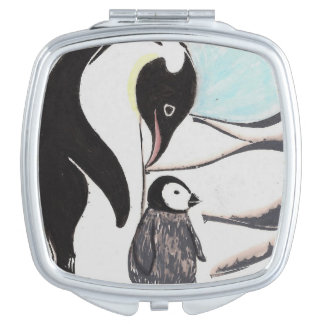 Penguins Compact Mirror