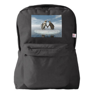 Penguins couple backpack