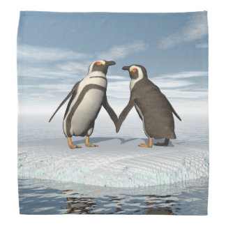 Penguins couple bandana
