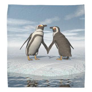 Penguins couple bandannas