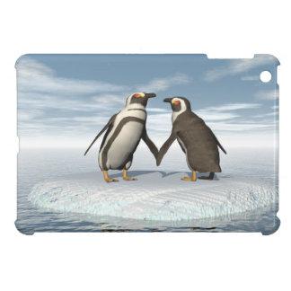 Penguins couple case for the iPad mini