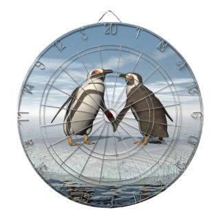 Penguins couple dartboard