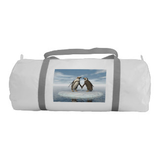 Penguins couple gym duffel bag