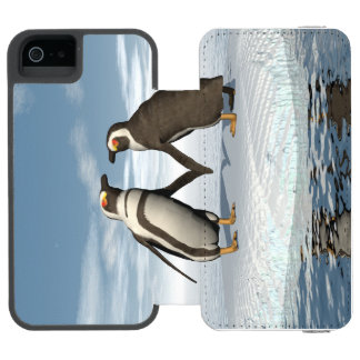 Penguins couple incipio watson™ iPhone 5 wallet case