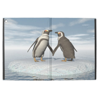 "Penguins couple iPad pro 12.9"" case"