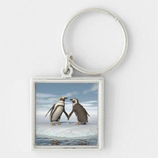 Penguins couple key ring
