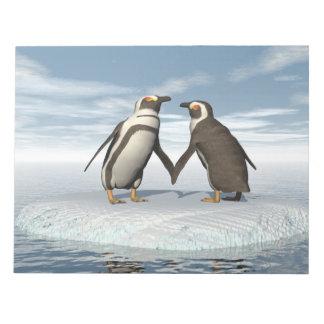 Penguins couple notepad