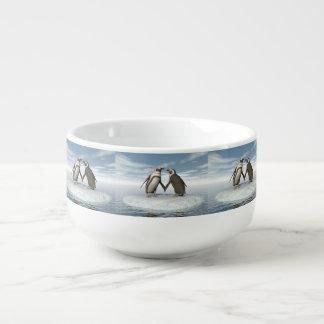 Penguins couple soup mug
