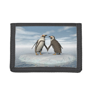 Penguins couple tri-fold wallets