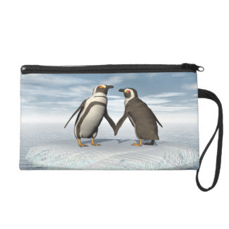 Penguins couple wristlet clutches