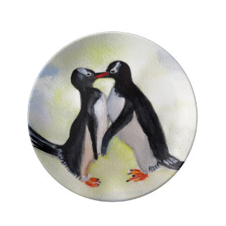 Penguins  Decorative Porcelain Plate