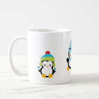 Penguins Dressed for Winter Coffee Mug