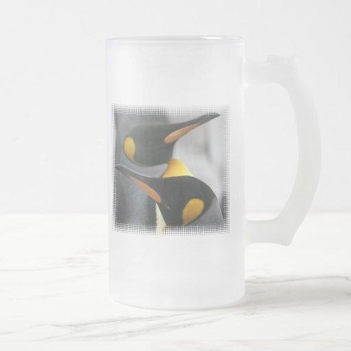 Penguins Frosted Beer Mug