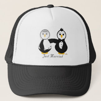 Penguins Getting Married Just Married Trucker Hat